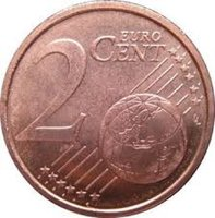 Used Euro cent coins in Dubai, UAE