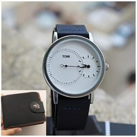 Used Original TOMI-Leather Watch《+FREE Wallet in Dubai, UAE