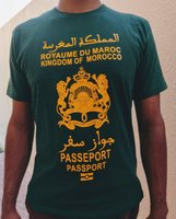 Used T-shirt Passport like customization in Dubai, UAE