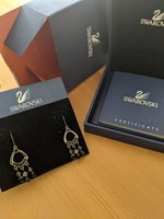 Used Swarovski Drop Earring Black in Dubai, UAE