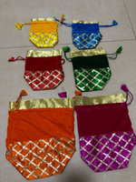 6 pieces of gift pouches - 3 sizes