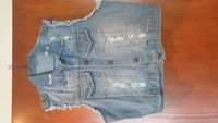 Used Jeans vest. Top in Dubai, UAE