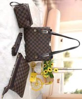 Used Lv ladies bag set of 3 brown in Dubai, UAE