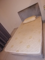 Used Standard bed with mattress and 2 pillows in Dubai, UAE