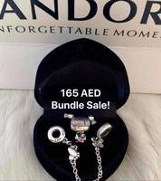 Used Girl + Safety Chain (Pandora Charms) in Dubai, UAE