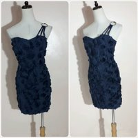 Used Off shoulder navy blue short dress in Dubai, UAE