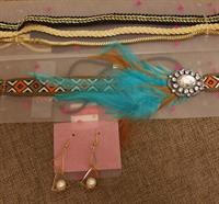 Used 5 New Items. 4 Hairbands And Earrings. in Dubai, UAE