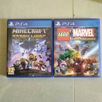 Used PS4 games - Minecraft&Lego Super Heroes in Dubai, UAE