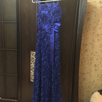 Long Dress Blue Color Size S-M