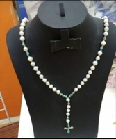 Used Authentic pure pearl cross NECKLACE. in Dubai, UAE