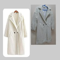 Used Parka lamb wool Coat for women ! in Dubai, UAE