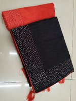 Used Black brand new saree with blouse. in Dubai, UAE
