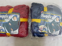 Used Huggle hoodie blue and red free size in Dubai, UAE