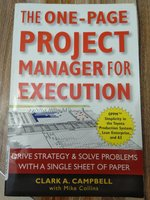 Used one page project manager for execution in Dubai, UAE
