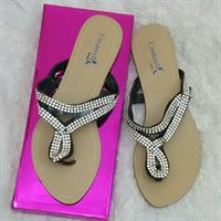 Used Flatsandals Biege Color Size 37 Never Wo in Dubai, UAE