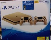 Used PS4 500 Gb Gold With 2 Controllers 1 Year Sony Warranty in Dubai, UAE