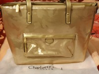 Used Charlotte Reid Golden Handbag in Dubai, UAE