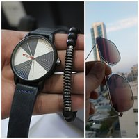 Used Genuine Leather Watch ¤Glasses ¤Bracelet in Dubai, UAE