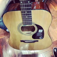 Used Epiphone acoustic guitar with capo free in Dubai, UAE