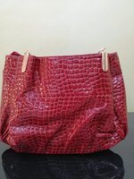 Used CROCODILE PATENT LEATHER HANDBAG NEW in Dubai, UAE