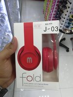 Used 2Pcs J-03 Stereo Headphones Red color in Dubai, UAE