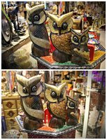 Used 3 Piece Wooden OWL Decoration Set》Antiqu in Dubai, UAE