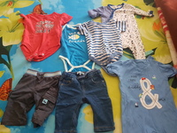 Used Rompers and jeans 0-6 months in Dubai, UAE