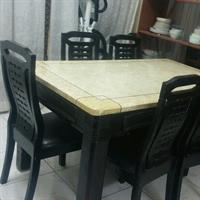 Used Stone Dining Table With 6 chairs in Dubai, UAE