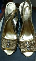 Golden Shoes New Size 38.Brand Offer Sho