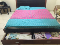 Used King Size Bed With Matress  in Dubai, UAE