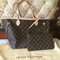 LV neverfull with pouch