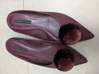 Used Charles and Keith maroon shoes in Dubai, UAE