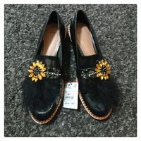 Brand New ZARA Bejewelled Loafers