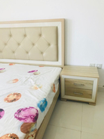 Used King size coat with side tables and bed  in Dubai, UAE