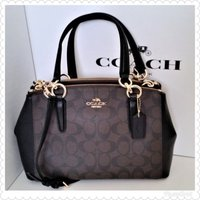 Authentic coach miniChristie brown black