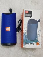 Used Portable Blue Aux Bluetooth speaker in Dubai, UAE
