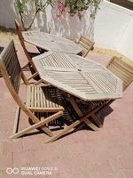 Used Table outdoor with 2 chairs in Dubai, UAE