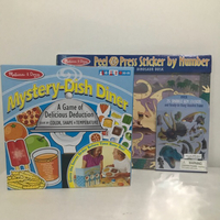 Used Melissa&Doug Games Set 2pcs NEW in Dubai, UAE