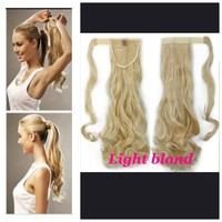 Beautiful long blond pony tail