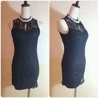 Black lace top or can be short dress