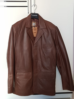 Used Premium Brown Real Leather Jacket (men) in Dubai, UAE