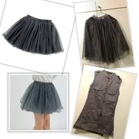 Used Girls grey short dress & flare skirt in Dubai, UAE