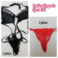 Used Ladies Ligerie 3 pcs Set | Size M in Dubai, UAE