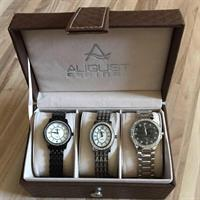 August Steiner Women's 3watch Gift Set