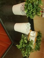 Used Ikea Set of 2 white Vase with flowers in Dubai, UAE