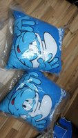 Used smurf 2 square pillows🎁🎁 in Dubai, UAE