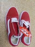 Used Red ladied Vans shoes in Dubai, UAE