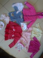 Used Baby girl winter dresses 3 to 12 months in Dubai, UAE