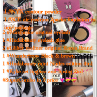 #WunderBrow #GlilterEyeliner #3CeAirCushion #NyxContour #MaxFactor Original Eyelash 2 Pairs . Yes All The Details Writing Out What The Super Combo U Will Have For This Purchase Dear ! Most Welcome