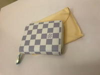 Small white grid LV wallet for Her